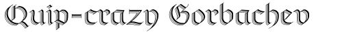 Richmond Zierschrift Regular sample