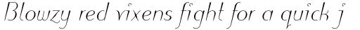 Puritas Light Italic sample