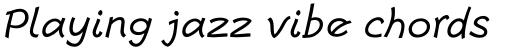 Escript Italic sample