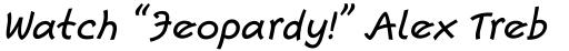 Escript Medium Italic sample