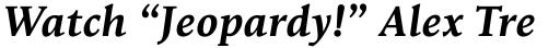 Goodchild Bold Italic sample