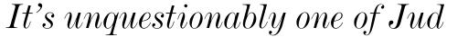 De Vinne Italic sample