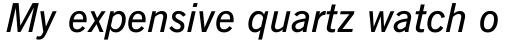 News Gothic Demi Italic sample
