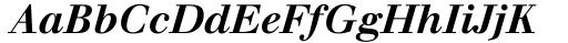 Font: Walbaum Bold Italic
