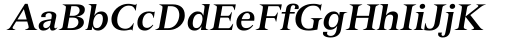 Font: Versailles 76 Bold Italic
