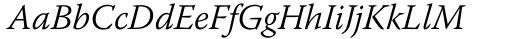 Font: Warnock Light Italic